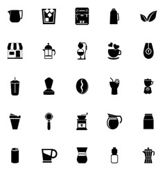 Coffee and tea icons on white background vector image