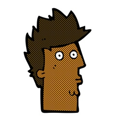 comic cartoon surprised face vector image