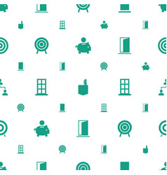 Conceptual icons pattern seamless white background vector