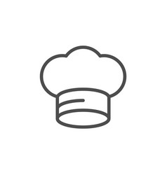 cook cap line outline icon vector image