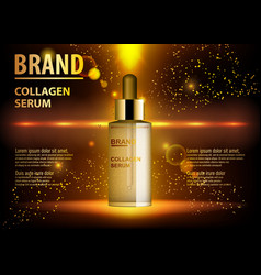 Cosmetic beauty product ads of premium serum vector