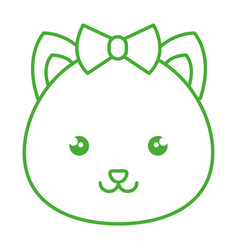 Cute and tender female hamster kawaii style vector
