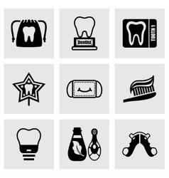 Dental icon set vector image