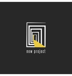 Development of a new project logo design abstract vector