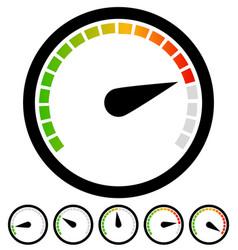 Dial gauge templates measuring indication vector