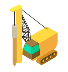 drilling machine icon isometric 3d style vector image