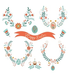Easter laurels vector