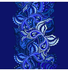 Elegant card with Indian paisley vector image