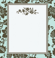 floral pattern and floral frame vector image