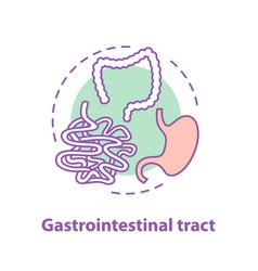 Gastrointestinal tract concept icon vector