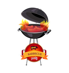 grill barbecue party brazier vector image