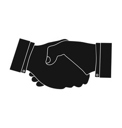 Handshake e-commerce single icon in black style vector