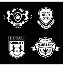 Heraldic premium quality emblems set with royal vector