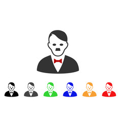 Hitler manager icon vector