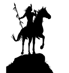 Horseback Indian vector image