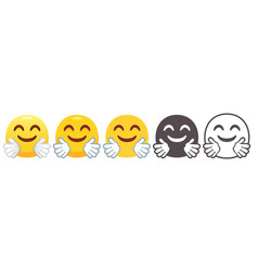 Hugging emoji vector