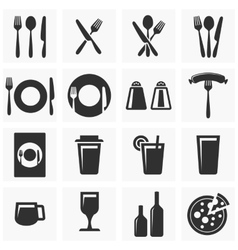 Icons for restaurant vector