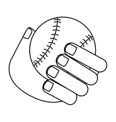 Isolated baseball toy design vector image