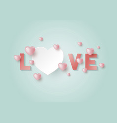 love with hearts with copy space vector image