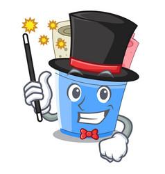 Magician ice cream roll small depth mascot vector