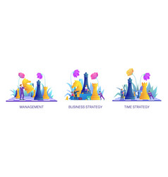 Management and time strategy concept collection vector