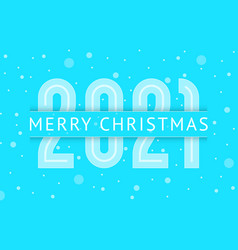 merry christmas greeting card design 2021 year vector image