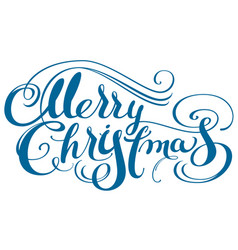 Merry christmas ornate calligraphy text for vector
