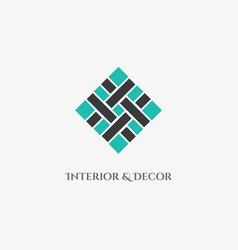 mosaic rhombus emblem vector image
