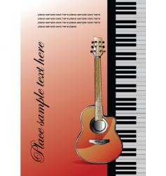 piano with guitar vector image