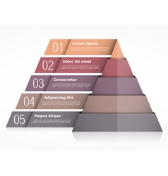 Pyramid Chart with Five Elements vector