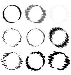 Set circle hand drawn vector image