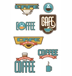 Set of 10 Coffee and Cafe Designs vector image