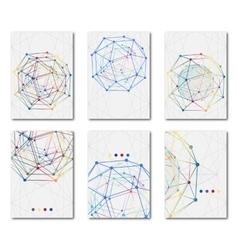 Set of templates business scientific brochures vector image