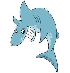 shark fish cartoon vector image
