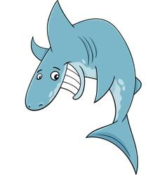 Shark fish cartoon vector