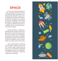 space exploration promo poster with cosmos themed vector image