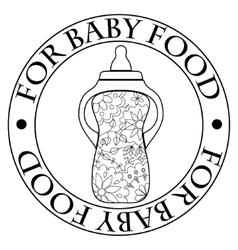 Stamp for baby food vector