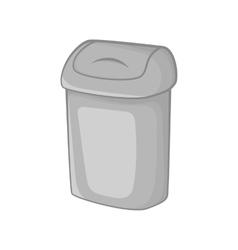 Toilet trash icon black monochrome style vector image