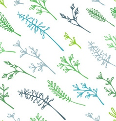 Various grass and floral elements for your design vector image