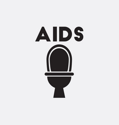 Various symptoms of aids toilet vector