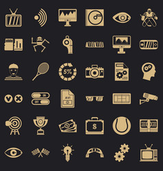 video file icons set simple style vector image