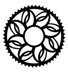 vintage bicycle cogwheel chainwheel symbol vector image