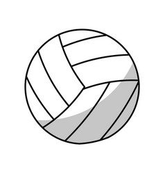 Volleyball ball equipment - shadow vector