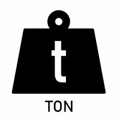 Weight ton icon vector