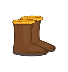 Winter shoes icon cartoon style vector