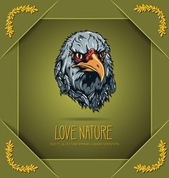 With nature and eagle vector