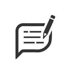 Write feedback icon vector