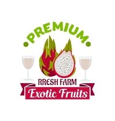 Exotic asian dragon fruit or pitahaya symbol vector image vector image