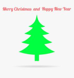 gren christmas tree flat icon vector image
