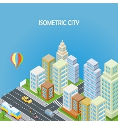 Isometric City Background vector image vector image